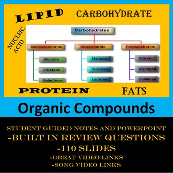 Organic Compounds(Carbohydrates, Proteins, Lipids, and Nucleic Acids)