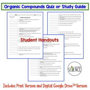 Organic Compounds Quiz