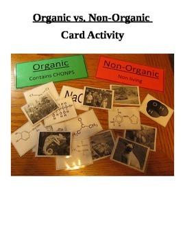 Organic Compounds vs. Non-Organic Compounds