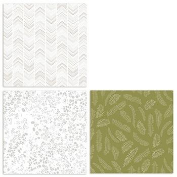Organic Digital Papers, Natural Wood, Succulent Patterns