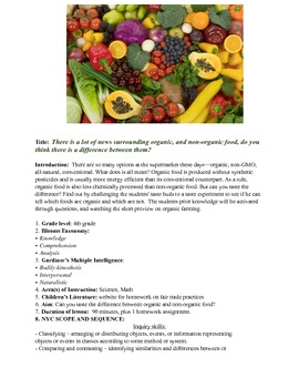 Organic Food Lesson (Taste Test)