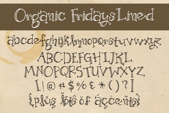 Organic Fridays Lined Font for Commercial Use