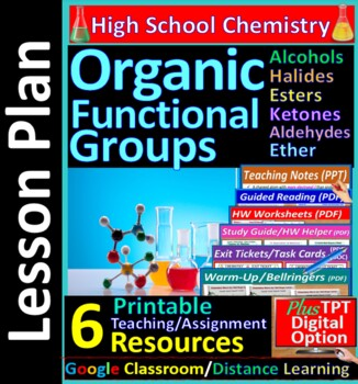 Organic Functional Groups; Alcohols Halides.. - Worksheets & Practice Questions