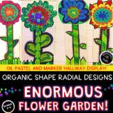 Flower Garden Collaborative Class Display!  Organic Shape & Radial Balance