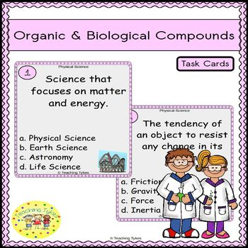 Organic and Biological Compounds Task Cards