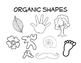 Organic and Geometric Shape Coloring Page