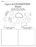 Organic and Geometric Shape Worksheet