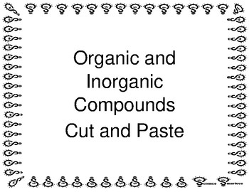 Organic and Inorganic Compounds Cut and Paste
