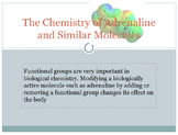 Organic chemistry and functional groups adrenaline and amp