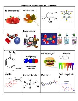 Organic or Inorganic Card Sort