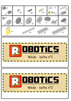 Organisation boîtes WeDo basic + extension