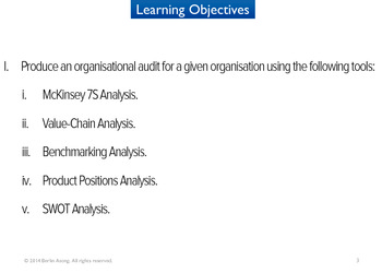 Organisational Audit (HND Version)