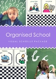 Organised School Visual Schedule Package