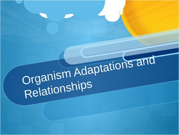 Organism Adaptations and Relationships