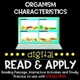 Organism Characteristics DIGITAL Read and Apply for Distan