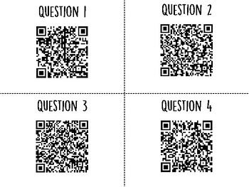 Organism Interactions QR Code Hunt (Content Review or Notebook Quiz)