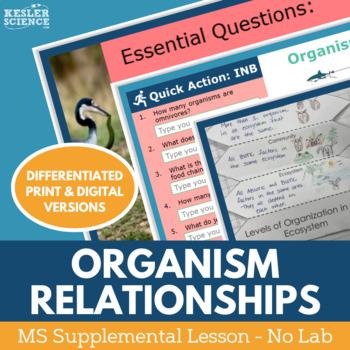 Organism Relationships - Supplemental Lesson - No Lab