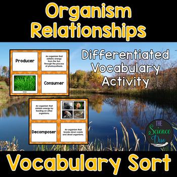 Organism Relationships Vocabulary Sort