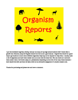 Organism Reports