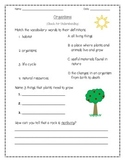 Organisms Assessment: Plants, Animals, Living and Nonliving