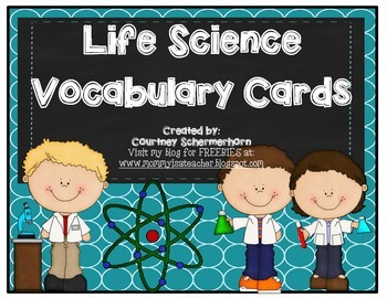Vocabulary Cards-Life Science (Adaptations, Food Chain, Metamorphosis, &  more!)