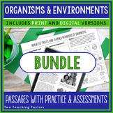 Organisms & Environments | Comprehension Activities Bundle
