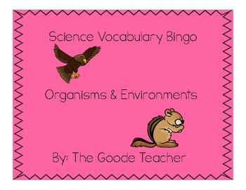Organisms & Environments Vocabulary Bingo