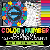 Organisms & Their Environment Color by Number - Science Color by Number