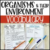 Organisms & Their Environments Fun Interactive Vocabulary Dice Activity EDITABLE