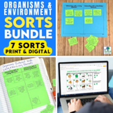 Organisms and Environment Sorting Activities