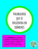 Organisms and Environment Vocabulary Spanish Bilingual Science