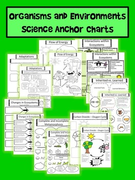 Organisms and Environments Anchor Charts with Student Pages (STAAR)