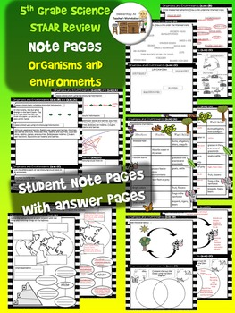 Organisms and Environments TEKS Review Activity Pages