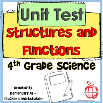 Organisms and Environments Structure & Function Unit Test 4th Grade (TEKS)