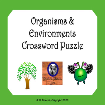 Organisms and Environments Vocabulary Crossword Puzzle