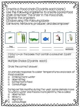 Organisms and Habitat Test