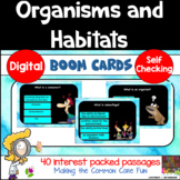 Organisms and Habitats Boom Cards