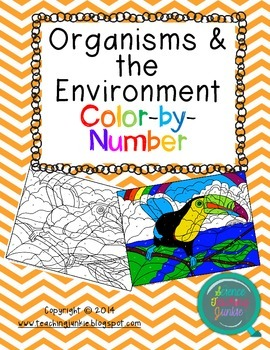Organisms and the Environment Color-by-Number FREEBIE