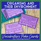Organisms and their Environment Vocabulary Activity | Poke Task Cards