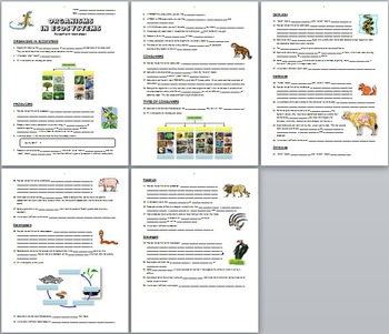 Organisms in Ecosystems - LESSON BUNDLE {Editable}