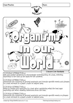 Organisms in Our World Reading Activity Pack Bundle