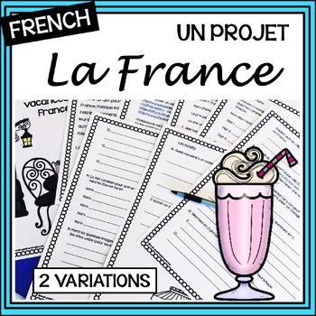 Organisons des vacances en France – Internet Activity/project