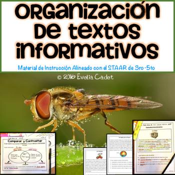 Organización de Textos Informativos ~ Instrucción y Practica para el STAAR