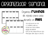 Organizador / Deberes mensuales para alumnos: CASTELLANO
