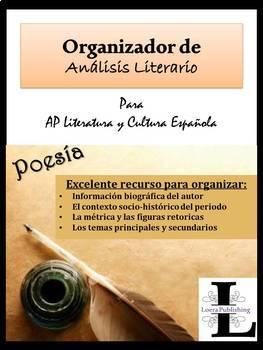 AP Spanish Literature Organizador de Análisis Literario