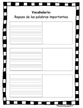 Close reading packet and organizer in Spanish (Comprehension)