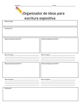 Organizador para escritura expositiva