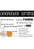 Organizador / plantilla deberes mensuales en CATALÁN