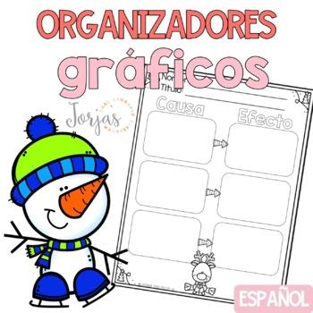 Organizadores gráficos de invierno - Spanish graphic organizers