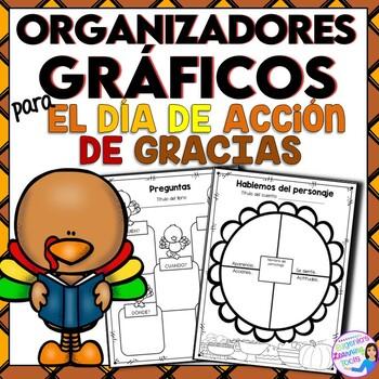 Organizadores gráficos para el dia de accion de gracias - Spanish